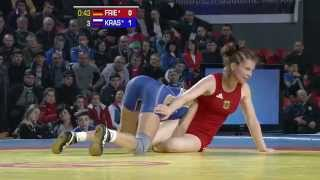 51Kg Final 3-5 match 02 - Female Wrestling -  European Championships 2013