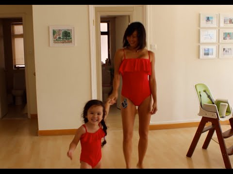 Stylish Matching Mom and Daughter Bathing Suits FTW!!