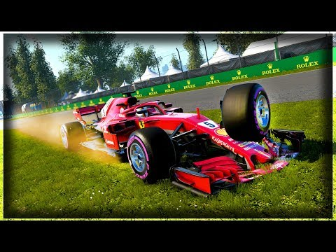 LAPPED CAR CRASHES TWO CARS OUT OF THE RACE! - F1 2018 Career Mode Part 91