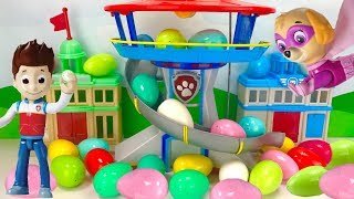 Ryder and the Paw Patrol Easter Egg Hunt for Super Pup Mashems & Toys