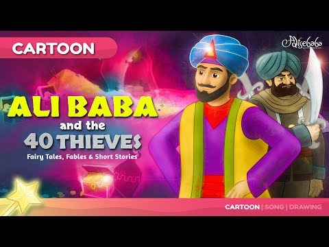 Ali Baba and the Forty Thieves | Cartoon Fairy Tales Bedtime Stories for Kids  kids story  animation