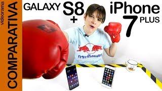 iPhone 7 plus vs Galaxy S8+, comparativa -mega combate a muerte-