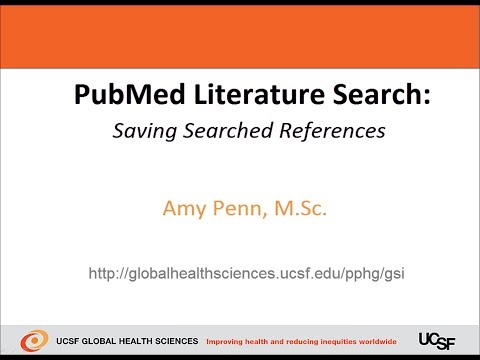 PubMed Literature Search -  Saving Searched References