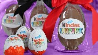 Giant Kinder Surprise - DIY Kinder Eggs with My Cupcake Addiction & FluffyJet