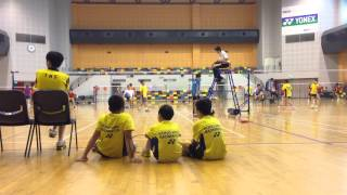 Badminton played by students