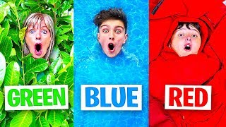 Using only ONE Color in HIDE AND SEEK! - Challenge