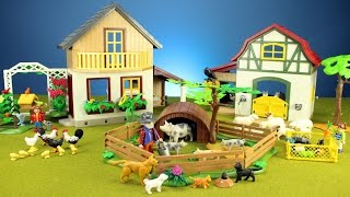 Playmobil Pig Pen, Bird Feeder and Guinea Pigs Building Playset Toys For Kids