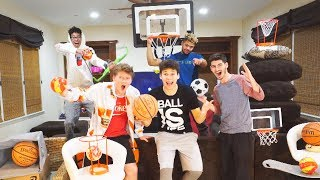 EPIC INDOOR BASKETBALL OBSTACLE COURSE SKILLS CHALLENGE!!