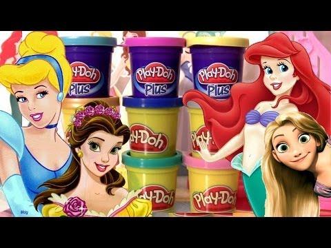 Play Doh Brilhante Princesas Disney Vestidos Salão de Baile Play Doh Sparkle Design a Dress Ballroom