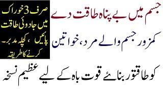 Health Tips In Urdu Women And Mens  Body Power Home Remdiese