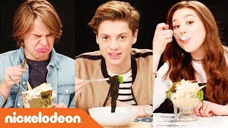 Nickelodeon-Inspired Food Taste Test w/ Jace Norman, Kira Kosarin & More | Nick