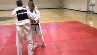 Side Moving Knee Drop Seoi Nage