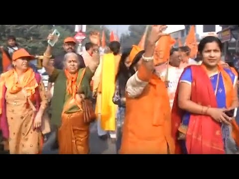 Xxx Mp4 New Delhi VHP Organises 'Bhagwa Dhwaj Yatra' For Construction Of Ram Temple 3gp Sex