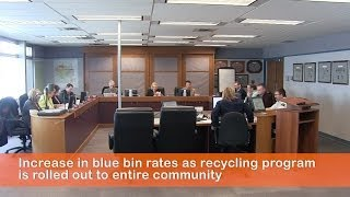Blue bin rates in Olds increase as recycling program is rolled out to entire community