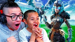 OMG NO WAY! THIS *NEW* SKIN IS INSANE! DUOS WITH MY 10 YEAR OLD BROTHER! FORTNITE BATTLE ROYALE!
