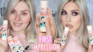 BENEFIT Pore Minimizing Makeup 💜 NEW MAKEUP 🤔 FIRST IMPRESSION REVIEW