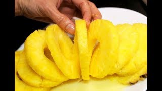 CUTTING FRUIT, CUTTING PINEAPPLE LIKE A PRO, SUPERMARKET DUBAI, DUBAI, دبي,