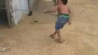 Short Funny Video Boy Pulls High Weight