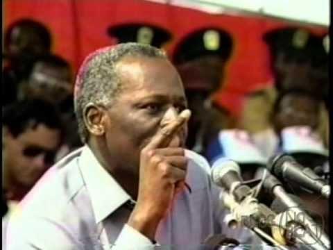 Comício José Eduardo dos Santos Angola 1992