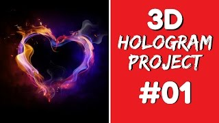 3D Hologram Project - 3D Hologram Project Heart #01