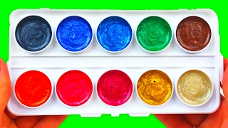 Learn Colors with Watercolor Painting Finger Paint Fun & Creative For Kids Play-Doh Preschool Toys
