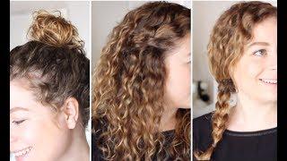 4 coiffures pour les cheveux bouclés (flat. La Belle Boucle) ✨ Marion Blush