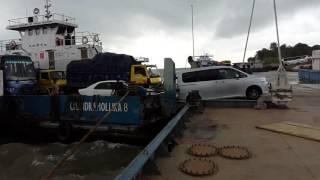 Paturia Daulatdia Ferry Ghat during High Tide in Rainy Season.....