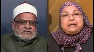 أحمد كريمة ينفعل ويخرج عن شعوره ويغسل ويهزأ سعاد صالح بسبب مطالبتها بمنع النقاب