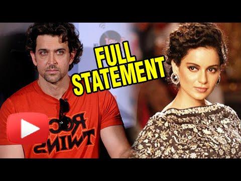 Xxx Mp4 Hrithik Roshan Official Statement On His Affair With Kangana Ranaut 3gp Sex