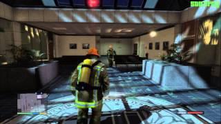 GTA 5 PS3 - Mission #68 - The Bureau Raid (Fire Crew) [100% - Gold Medal]