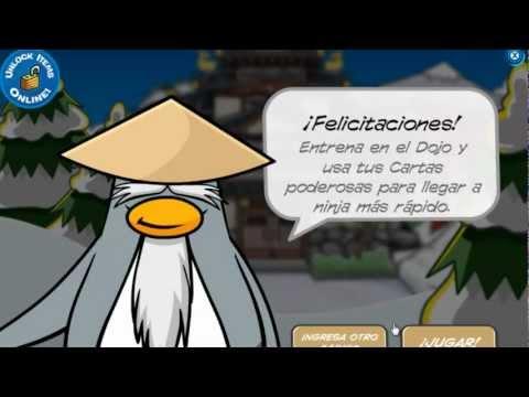 Club penguin On desbloqueando código especial dorado de card jitsu HD.