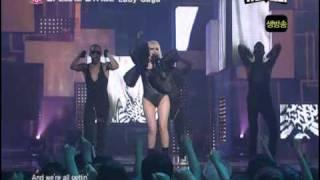 Lady gaga in korea 18.06.09 JUST DANCE HD with lyrics