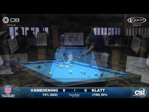 USBTC 8 Ball Shane Van Boening vs Jason Klatt Final