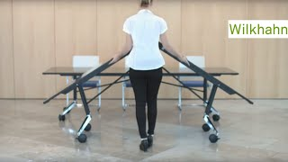 Confair folding table - mobile conference table by Wilkhahn