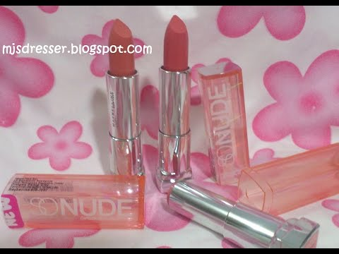 Maybelline SO NUDE Lipsticks Reviews & Swatches
