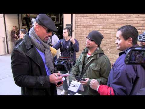 Dwayne Rock Johnson signs autographs in New York City