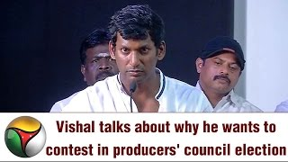 Actor Vishal's Powerful Speech on Contest at Producers Council Election
