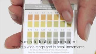 Test your Body pH Level using the pH Test Strip Acid Alkaline Diet