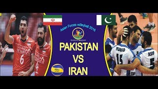 Pakistan vs Iran Asian Forces volleyball 2016