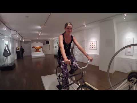 Xxx Mp4 Riding The Dildo Bike At The Sex Museum NYC 3gp Sex