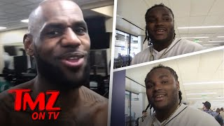 Lebron James Raps To Tee Grizzley's 'First Day Out' and Record Sales BOOM! | TMZ TV