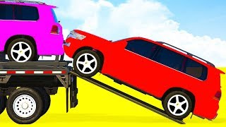 LEARN COLOR SUV Cars Transportation w Truck Spiderman Superhero Cartoon for Kids and Toddlers