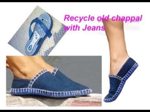 Xxx Mp4 Recycle Old Jeans Denim Slippers Chappal To Make Fabric Boot Waste Material Craft 3gp Sex