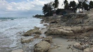 Destruida la Playa del Hotel Atlántico en Santa María (Cuba)