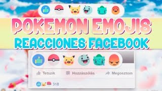 Reacciones de FACEBOOK POKEMON Emojis // Personaliza Facebook♥