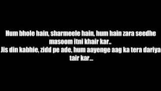 Dil To Baccha Hai Ji - Abhi Kuch Dino Se - Lyrics Video HQ!