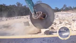 Granite Rock Giant Saw Compilation, Portable Band Sawmill - Manual or Hydraulic