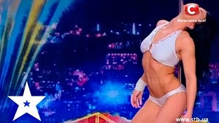 Incredibly beautiful and athletic pole dance on Ukraine's got talent