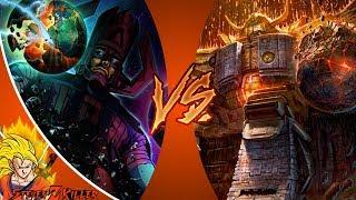 GALACTUS vs UNICRON! (Marvel vs Transformers) Cartoon Fight Club SEASON 2 FINALE! REACTION!!!