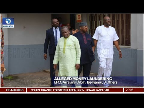 EFCC Arraigns Orbith, Ize-Iyamu, 3 Others Over Alleged Money Laundering Pt.1 |News@10| 24/05/18